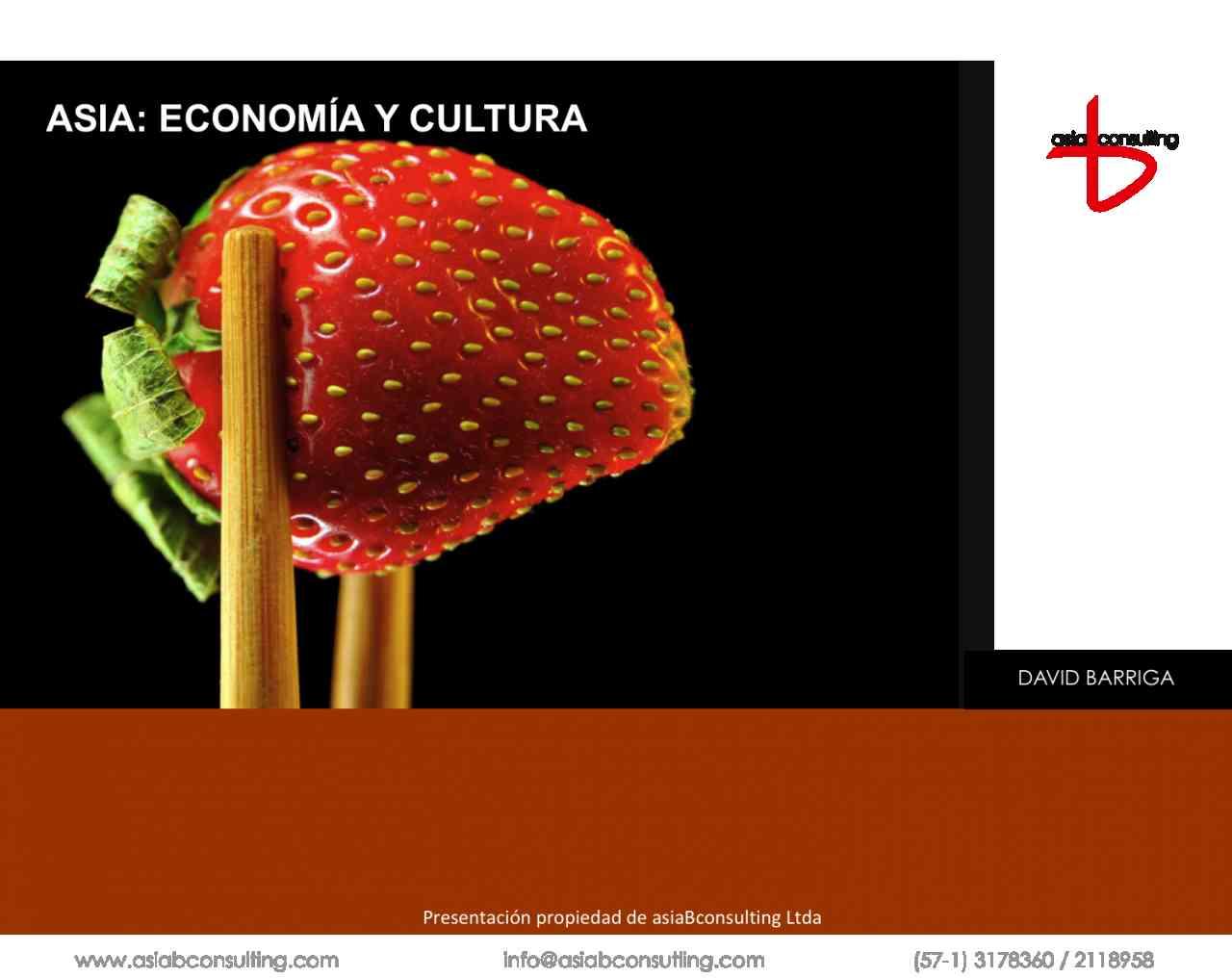 imagen portada ASIA: ECONOMIA Y CULTURA